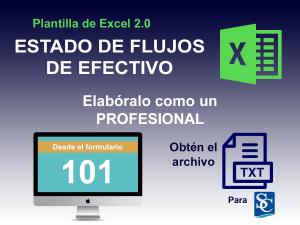 ESTADO DE FLUJOS DE EFECTIVO DESDE F101 - CON FORMULAS 2.0