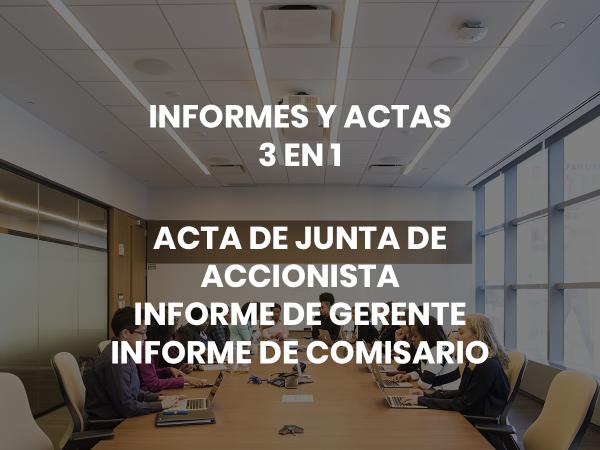 INFORMES Y ACTAS DE JUNTA SCVS