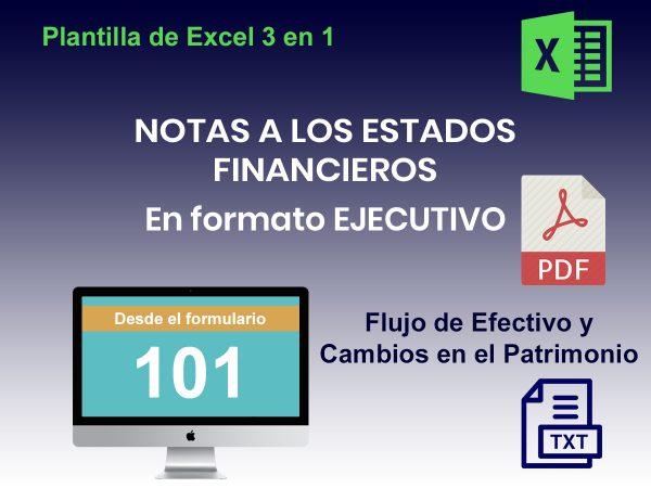 NOTAS Y ESTADOS FINANCIEROS DESDE F101